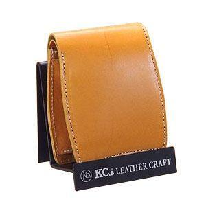 メンズ財布 革 名入れ ケイシーズ(KCs) プレーン ベーシック イエロー ビルフォード KIB509D|nomado1230