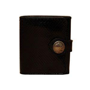 メンズ財布 革 名入れ ケイシーズ(KCs) エキゾチック デスペラード ブラック パイソン ビルフォールド KIB101BK|nomado1230