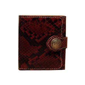 メンズ財布 革 名入れ ケイシーズ(KCs) エキゾチック デスペラード レッド パイソン ビルフォールド KIB101RD|nomado1230