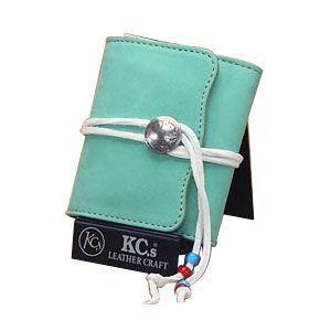 メンズ財布 革 名入れ ケイシーズ(KCs) エキゾチック デスペラード エメラルド ヌバック ビルフォールド KIB502E|nomado1230