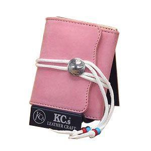 メンズ財布 革 名入れ ケイシーズ(KCs) エキゾチック デスペラード ピンク ヌバック ビルフォールド KIB502B|nomado1230