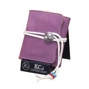 メンズ財布 革 名入れ ケイシーズ(KCs) エキゾチック デスペラード ラベンダー ヌバック ビルフォールド KIB502C|nomado1230