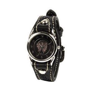 腕時計 革 ケイシーズ(KCs) ウォッチブレス カクタス フリーカット ブラック KIR501D|nomado1230