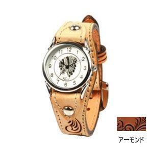 腕時計 革 ケイシーズ(KCs) ウォッチブレス カクタス フリーカット アーモンド KIR501B|nomado1230
