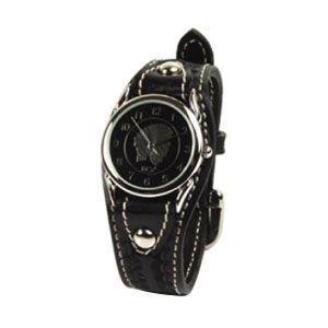 腕時計 革 ケイシーズ(KCs) ウォッチブレス カクタス ハンド スタンプ ブラック KIR502D|nomado1230
