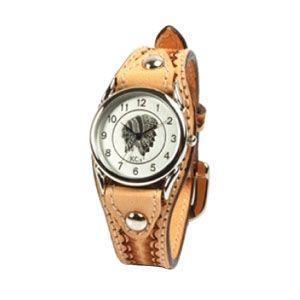 腕時計 革 ケイシーズ(KCs) ウォッチブレス カクタス ハンド スタンプ サドル KIR502A|nomado1230