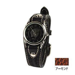 腕時計 革 ケイシーズ(KCs) ウォッチブレス カクタス ハンド スタンプ アーモンド KIR502B|nomado1230
