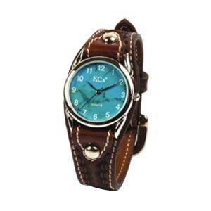 腕時計 革 ケイシーズ(KCs) ウォッチブレス カクタス ハンド スタンプ モカ KIR502C|nomado1230