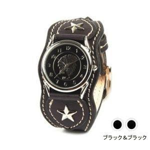 腕時計 革 ケイシーズ(KCs) ウォッチブレス ナッシュビル プレーン ブラック&ブラック KIR503M|nomado1230