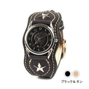 腕時計 革 ケイシーズ(KCs) ウォッチブレス ナッシュビル プレーン ブラック&タン KIR503K|nomado1230