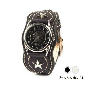 腕時計 革 ケイシーズ(KCs) ウォッチブレス ナッシュビル プレーン ブラック&ホワイト KIR503O|nomado1230