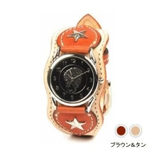 腕時計 革 ケイシーズ(KCs) ウォッチブレス ナッシュビル プレーン ブラウン&タン KIR503F|nomado1230
