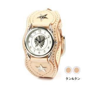 腕時計 革 ケイシーズ(KCs) ウォッチブレス ナッシュビル プレーン タン&タン KIR503A|nomado1230