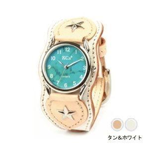 腕時計 革 ケイシーズ(KCs) ウォッチブレス ナッシュビル プレーン タン&ホワイト KIR503E|nomado1230
