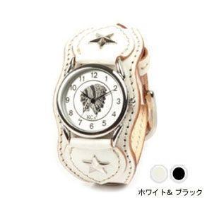 腕時計 革 ケイシーズ(KCs) ウォッチブレス ナッシュビル プレーン ホワイト&ブラック KIR503W|nomado1230