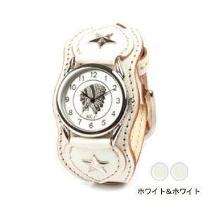 腕時計 革 ケイシーズ(KCs) ウォッチブレス ナッシュビル プレーン ホワイト&ホワイト KIR503Y|nomado1230