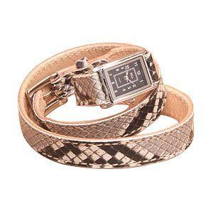 腕時計 革 ケイシーズ(KCs) エキゾチック ステッチ・ロング ナチュラル ウォッチブレス パイソン KIR014NT nomado1230