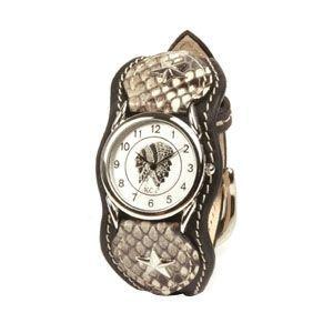腕時計 革 ケイシーズ(KCs) エキゾチック ナッシュビル ブラック ウォッチブレス KIR015BK nomado1230
