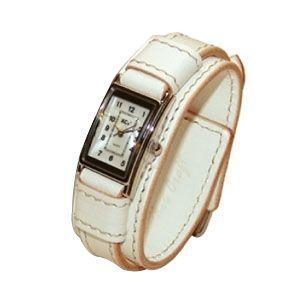 腕時計 革 ケイシーズ(KCs) ウォッチブレス レディース バージニア ホワイト KIR516E|nomado1230