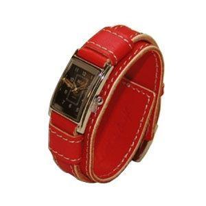 腕時計 革 ケイシーズ(KCs) ウォッチブレス レディース バージニア レッド KIR516D|nomado1230