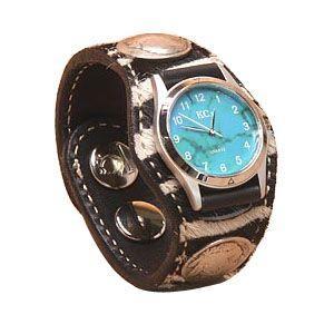 腕時計 革 ケイシーズ(KCs) エキゾチック スリーコンチョ シマウマ柄 ウォッチブレス ゼブラ KIR520A|nomado1230
