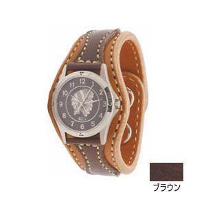 腕時計 革 ケイシーズ(KCs) アローヘッド ブラウン ウォッチブレス KIR521E|nomado1230