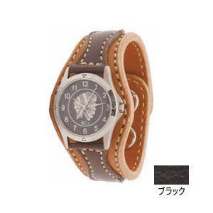 腕時計 革 ケイシーズ(KCs) アローヘッド ブラック ウォッチブレス KIR521I|nomado1230