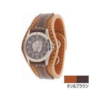 腕時計 革 ケイシーズ(KCs) ウォッチブレス アローヘッド タン&ブラウン KIR521B|nomado1230