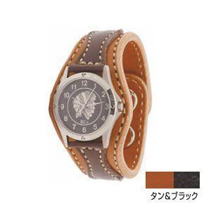 腕時計 革 ケイシーズ(KCs) ウォッチブレス アローヘッド タン&ブラック KIR521C|nomado1230
