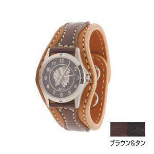 腕時計 革 ケイシーズ(KCs) ウォッチブレス アローヘッド ブラウン&タン KIR521D|nomado1230
