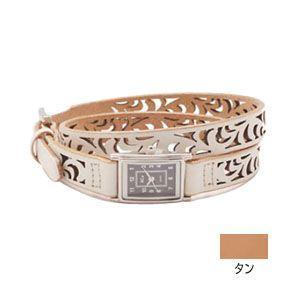 腕時計 革 ケイシーズ(KCs) ウォッチブレス レディース フィリグリー ロング カウハイド タン KIR523A|nomado1230