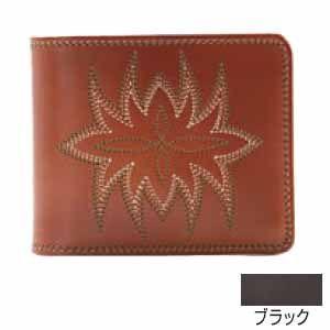 メンズ財布 革 名入れ ケイシーズ(KCs) サンタフェ ブラック メダリオン ビルフォード KMB003BK|nomado1230