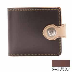 メンズ財布 革 名入れ ケイシーズ(KCs) サンタフェ ダークブラウン フラップ ビルフォード KMB505C|nomado1230