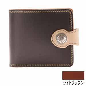 メンズ財布 革 名入れ ケイシーズ(KCs) サンタフェ ライトブラウン フラップ ビルフォード KMB505B|nomado1230