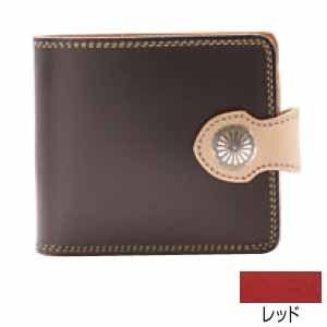 メンズ財布 革 名入れ ケイシーズ(KCs) サンタフェ レッド フラップ ビルフォード KMB505E|nomado1230