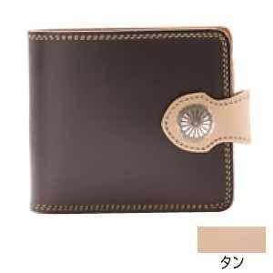 メンズ財布 革 名入れ ケイシーズ(KCs) サンタフェ タン フラップ ビルフォード KMB505A|nomado1230