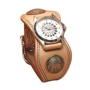 腕時計 革 ケイシーズ(KCs) プレーン エスパニューラ タン ウォッチブレス ダブル ステッチ KMR504A|nomado1230