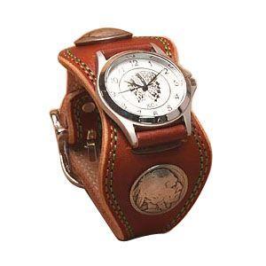 腕時計 革 ケイシーズ(KCs) プレーン エスパニューラ ライトブラウン ウォッチブレス ダブル ステッチ KMR504B|nomado1230