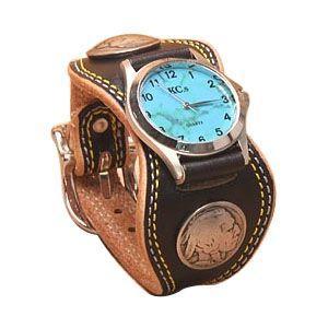 腕時計 革 ケイシーズ(KCs) プレーン エスパニューラ ブラック ウォッチブレス ダブル ステッチ KMR504D|nomado1230