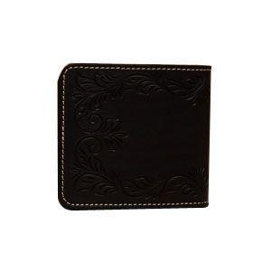 メンズ財布 革 名入れ ケイシーズ(KCs) カービング ブラック ビルフォード ライセンスケース付 KNB002LBK|nomado1230