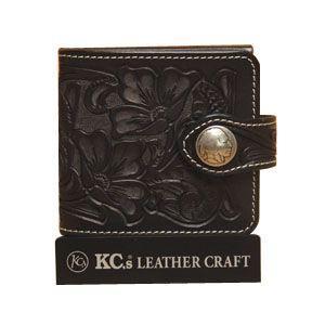 メンズ財布 革 名入れ ケイシーズ(KCs) クラフト ビルフォード ブラック No.2 ライセンスケース付 KNB516D|nomado1230