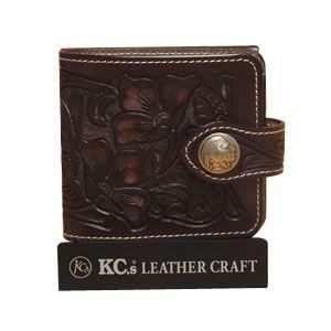 メンズ財布 革 名入れ ケイシーズ(KCs) クラフト ビルフォード ブラウン No.2 ライセンスケース付 KNB516C|nomado1230