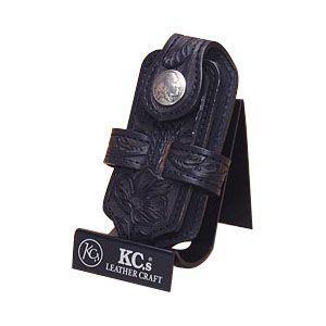 携帯ケース 名入れ ケイシーズ(KCs) クラフト クロス ブラック 携帯電話ケース ツー KNE001BK|nomado1230