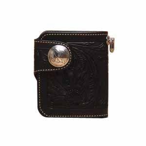 メンズ財布 革 名入れ ケイシーズ(KCs) クラフト ラレド ブラック ビルフォード KPB503D|nomado1230