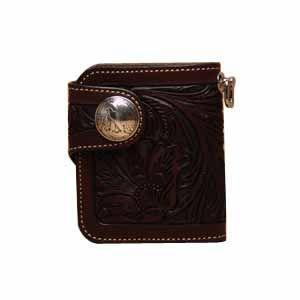 メンズ財布 革 名入れ ケイシーズ(KCs) クラフト ラレド モカ ビルフォード KPB503C|nomado1230