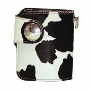 メンズ財布 革 名入れ ケイシーズ(KCs) エキゾチック ラレド ブラック&ホワイト ヘアーカーフ ビルフォード KPB504B|nomado1230