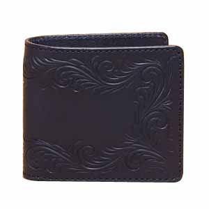 メンズ財布 革 名入れ ケイシーズ(KCs) カービング サンタフェ ブラック フリーカット ビルフォード KPB011BK|nomado1230