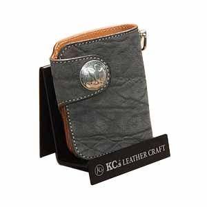 メンズ財布 革 名入れ ケイシーズ(KCs) エキゾチック ラレド グレー エレファント ビルフォード KPB519A|nomado1230