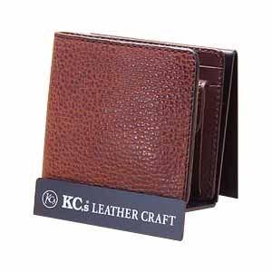 メンズ財布 革 名入れ ケイシーズ(KCs) エキゾチック サンタフェ ブラウン バッファロー ビルフォード KPB023BR|nomado1230