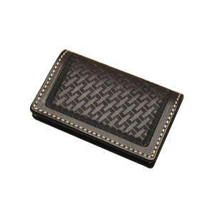 カードケース メンズ 革 名入れ ケイシーズ(KCs) スタンプ ブラック フォート ワース バスケット カードケース KPC002BK|nomado1230